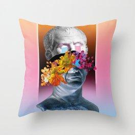 Caesar flowers Throw Pillow