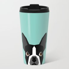 Logan - Boston Terrier pet design with bold and modern colors for pet lovers Travel Mug