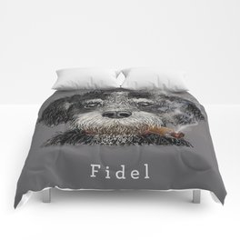 Fidel - The Havanese is the national dog of Cuba Comforters