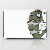trout iPad Cases featuring Thugged out Trout by Astra Halliday
