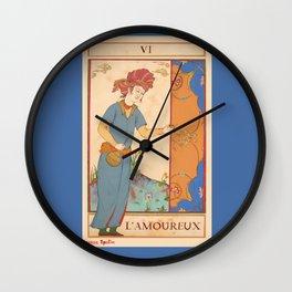 Tarot Card-L'Amoureux-Lovers Wall Clock