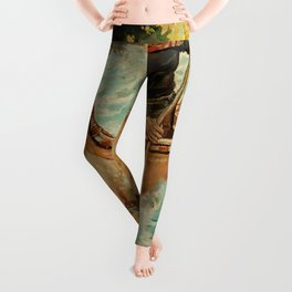 """""""In Troubled Waters"""" by Philip R Goodwin Leggings"""
