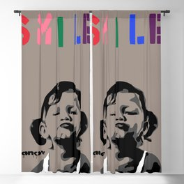 Banksy Smile Blackout Curtain