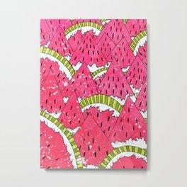 Watermelon Mounts Metal Print