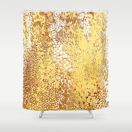 gush of dots in yellow Shower Curtain