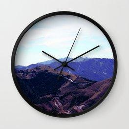 mountain ridges Wall Clock
