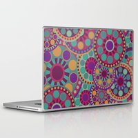circles Laptop & iPad Skins featuring CIRCLES by Nika