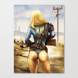Fallout 4 Girl  Canvas Print