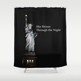 She Shines Through the Night 2 Shower Curtain