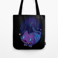 cheshire Tote Bags featuring Cheshire by Maria Jose Da Luz