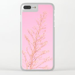 Seeds of Weeds in Pink Clear iPhone Case