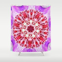 Royal Rose Radiant Orchid Kaleidoscope Shower Curtain