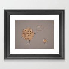 Cannibal Cookie Framed Art Print