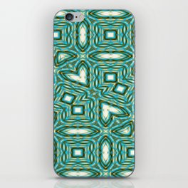 Turquoise Gems iPhone Skin