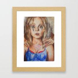 Behind her eyes Framed Art Print