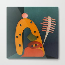 shapes illustration abstract art Metal Print