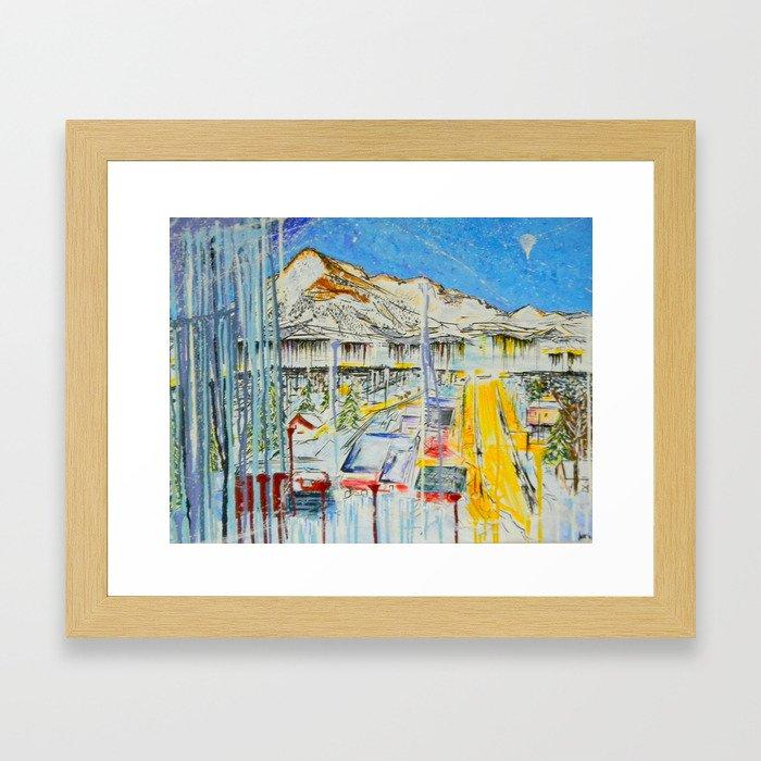CB ELK AVE. Framed Art Print
