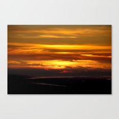 Sunset in Nemrut Canvas Print