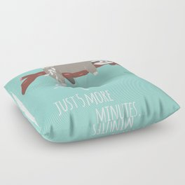 Sloth card - just 5 more minutes Floor Pillow