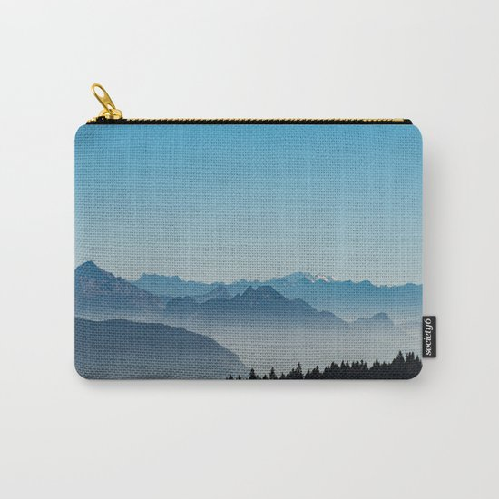 Blue Valley #mountains II Carry-All Pouch