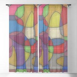 Abstract #314 Sheer Curtain