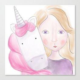 Unicorn love Canvas Print