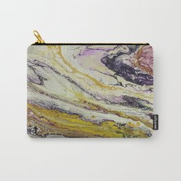 Planet of reptiles, abstract, acrylic on canvas Carry-All Pouch