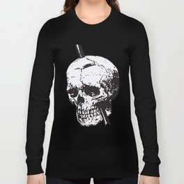 Frontal Lobotomy Skull Of Phineas Gage Vector Isolated Long Sleeve T-shirt