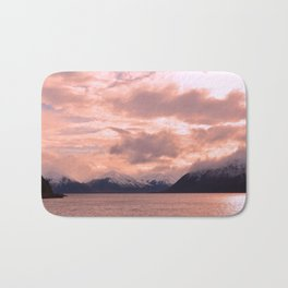 Rose Quartz Over Hope Valley Bath Mat