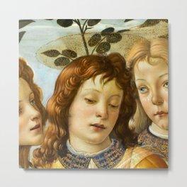 Sandro Botticelli - Angels 4. detail Metal Print