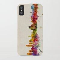 liverpool iPhone & iPod Cases featuring Liverpool England Skyline by artPause