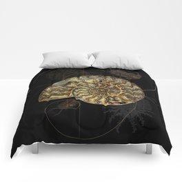 Ammonite Trilobite Fibonacci Spiral Comforters