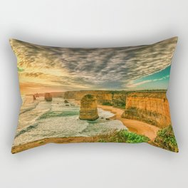 The Twelve Apostles evening sunset rocks coast ocean Port Campbell National Park Victoria Australia Rectangular Pillow