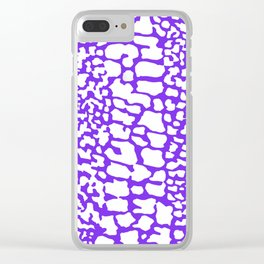 ANMAL PRINT SNAKE SKIN PURPLE AND WHITE PATTERN Clear iPhone Case