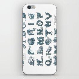 Dracoserific, a font full of Dragons (light) iPhone Skin