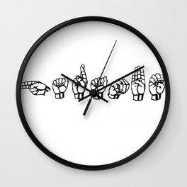 Harambe sign language (White) Wall Clock