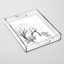 A Windy Day Acrylic Tray