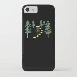 Disc Golf Stupid Trees Woods Men Women Court Gift iPhone Case