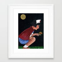nurse Framed Art Prints featuring nurse by Karen Constance Collage and Paintings