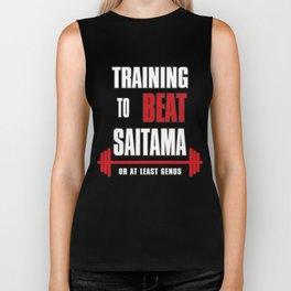 Training to beat saitama Biker Tank