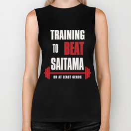 Training to beat saitama Biker Tank