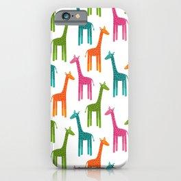 Giraffes-Multicolor iPhone Case