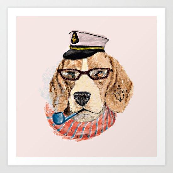 Mr.Beagle Art Print