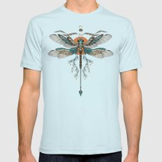 Dragonfly Tattoo Mens Fitted Tee Light Blue MEDIUM