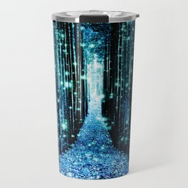 Magical Forest Teal Turquoise Travel Mug