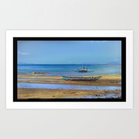 philippines Art Prints featuring Philippines beach by Maria Zborovska