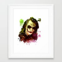 the joker Framed Art Prints featuring Joker by Sirenphotos