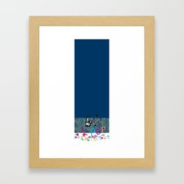 Kpop legging blue melody Framed Art Print