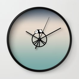 Peace and panda Wall Clock