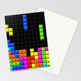 Retro Video Game Blocks Pattern Stationery Cards